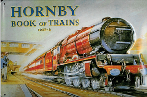 Hornby Book Of Trains 1937-38 embossed steel sign    (hi 3020)